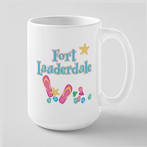 Ft Lauderdale Flip Flops - Large Mug