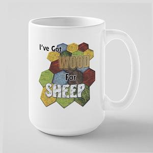 Wood 4 Sheep Mugs