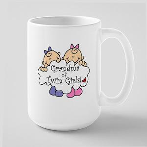 Grandma of Twin Girls Large Mug