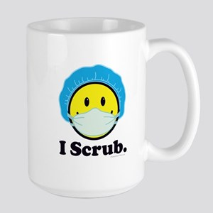 I Scrub Surgical Tech 15 oz Ceramic Large Mug