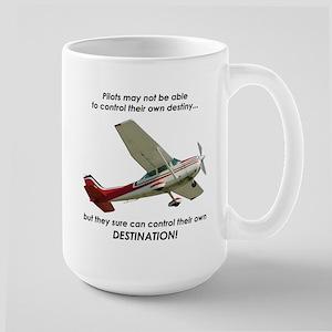 Pilots control their own destination Large Mug
