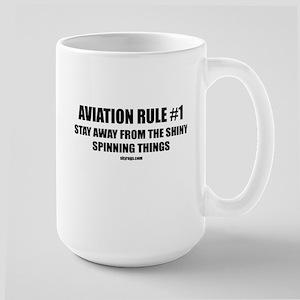 AVIATION RULE #1 Large Mug