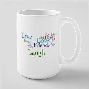 Live, Love, Laugh Large Mug