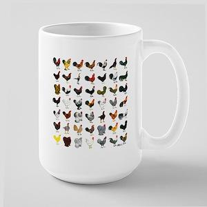 49 Roosters Large Mug