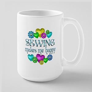 Sewing Happiness Large Mug