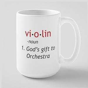 Definition of a Violin Large Mug