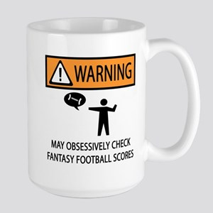 Checks Fantasy Football Scores Large Mug