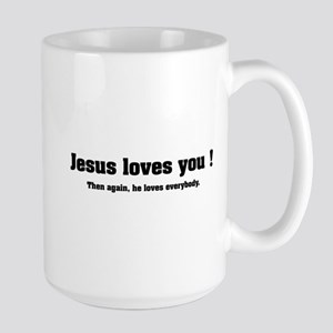 Jesus loves you ! Large Mug