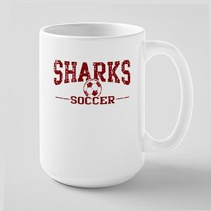 Sharks Soccer Large Mug