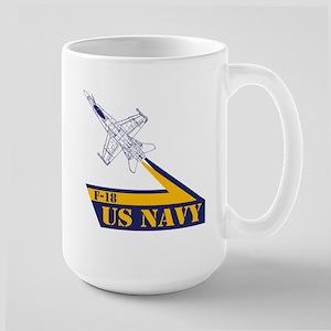 US NAVY Hornet F-18 Large Mug