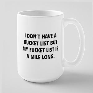 Fucket List Large Mug