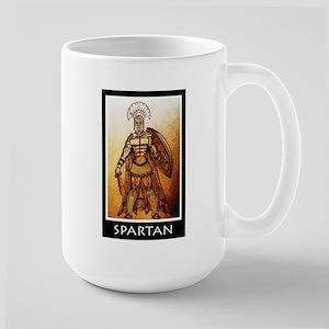 Gold spartan Large Mug