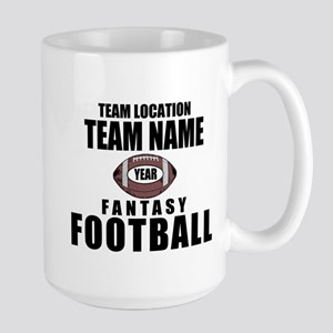 Your Team Personalized Fantasy Football Large Mug