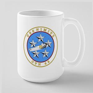 US Navy USS Nimitz CVN 68 Large Mug