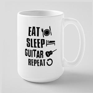 Eat Sleep Guitar Large Mug