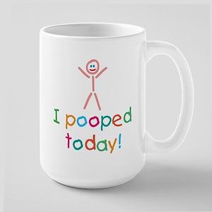 I Pooped Today Fun Large Mug