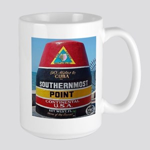 Key West Southern Most Point Monument Large Mug