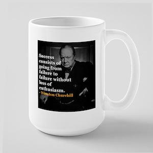 Winston Churchill on Sucess over failure Mug