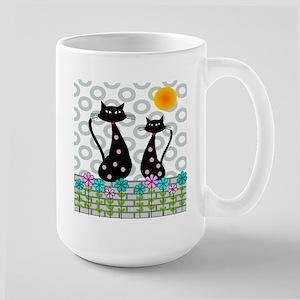 Whimsical Cats 4 Mugs