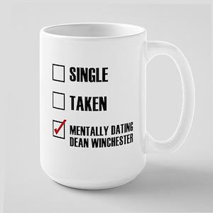Mentally Dating Dean Winchester Large Mug