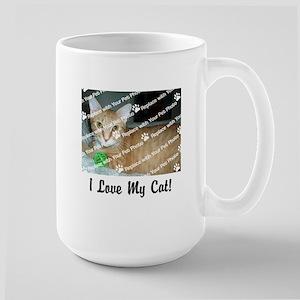 Customize Add Photo Love Cat (center) Mugs