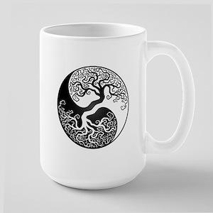 White and Black Yin Yang Tree Mugs