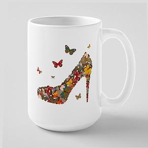 Butterflies and Heels Large Mug