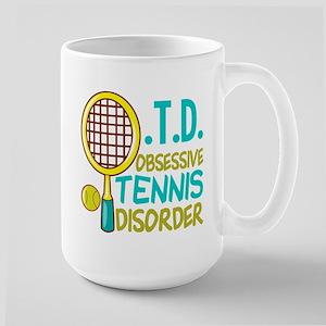 Funny Tennis 15 oz Ceramic Large Mug