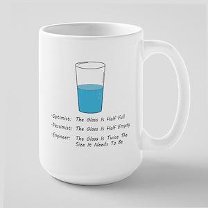 Optimist pessimist engineer Mugs