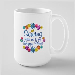 Sewing Happy Place Large Mug