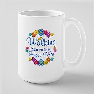 Walking Happy Place Large Mug