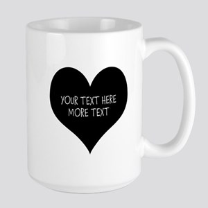 Black Heart Mugs For Newly Weds Couple