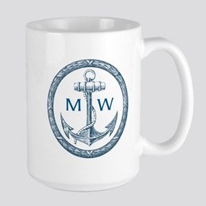 Anchor, Nautical Monogram Mugs