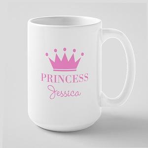 Personalized pink princess crown Mugs