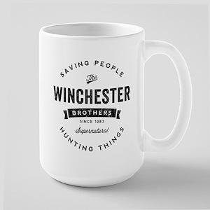 SUPERNATURAL Winchester Bros black Large Mug