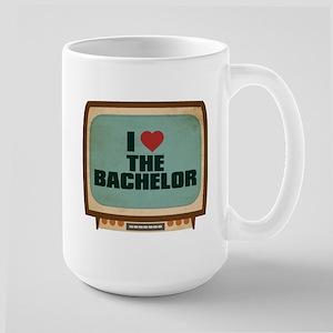 Retro I Heart The Bachelor Large Mug