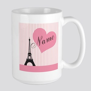 custom add text paris Large Mug