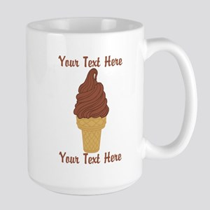 Personalized Chocolate Ice Cream Large Mug