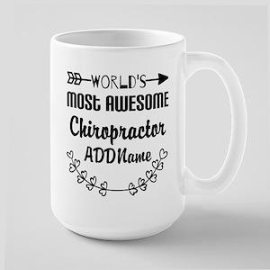 Personalized Worlds Most Awesome Chirop Large Mug