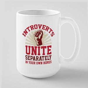 Introverts Unite Large Mug