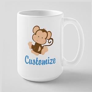 Custom Monkey Large Mug