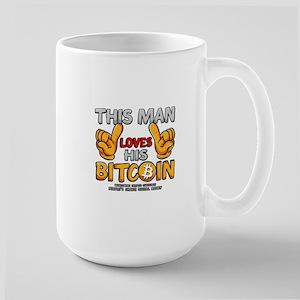 This Man Loves His Bitcoin Mugs