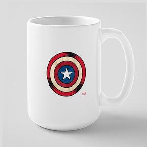 Captain America Comic Shield Large Mug