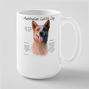 Cattle Dog (red) 15 oz Ceramic Large Mug