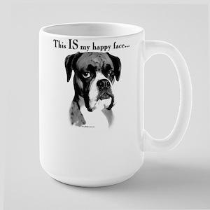 Boxer Happy Face Large Mug