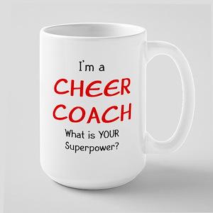 cheer coach 15 oz Ceramic Large Mug