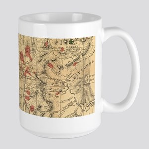 Vintage Map of Yellowstone National Park (188 Mugs