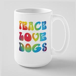 Peace Love Dogs Tiedye Large Mug