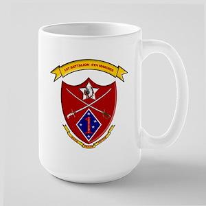 USMC 1/5 insignia Large Mug
