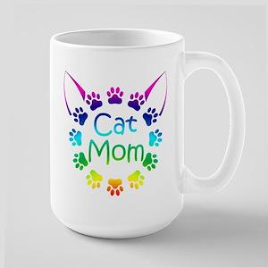 """""""Cat Mom"""" Large Mug"""